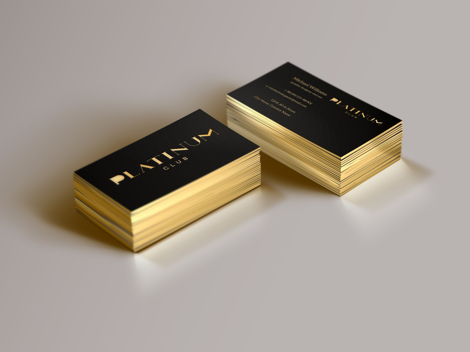 Club PLATINUM Japan Neogrey – Club Card Design