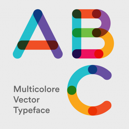 Multicolore Vector Typeface
