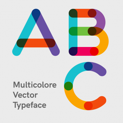 Multicolore Vector Typeface